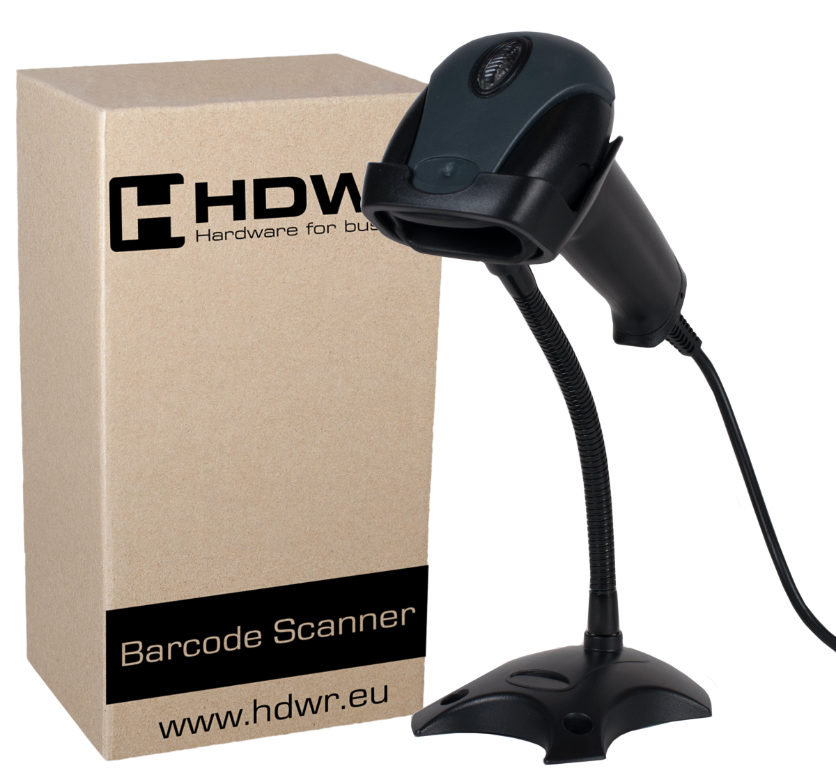 AUTOMATIC PROFESSIONAL BARCODE READER HD29A. READER ON THE STAND.