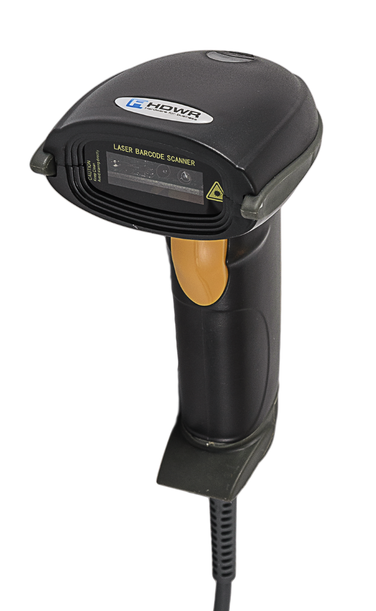 Manual: Wired laser barcode scanner with stand HD42A