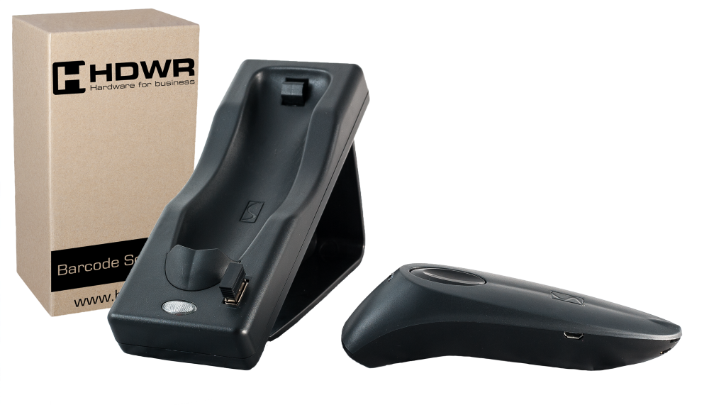 WIRELESS 2D BARCODE READER WITH DOCKING STATION HD4000 WALL MOUNT. SET.