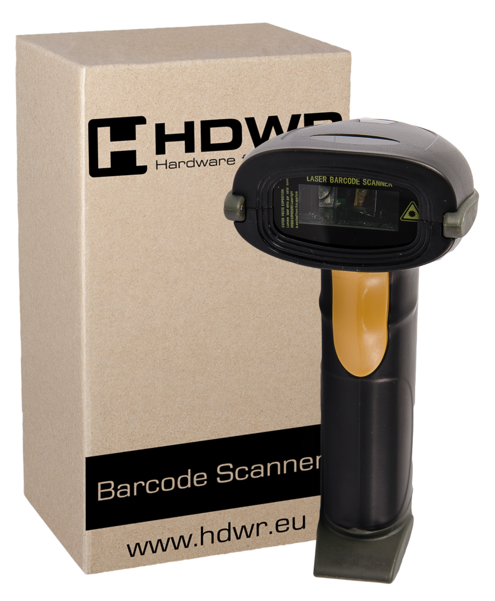 WIRELESS BARCODE READER HD43. FRONT VIEW.