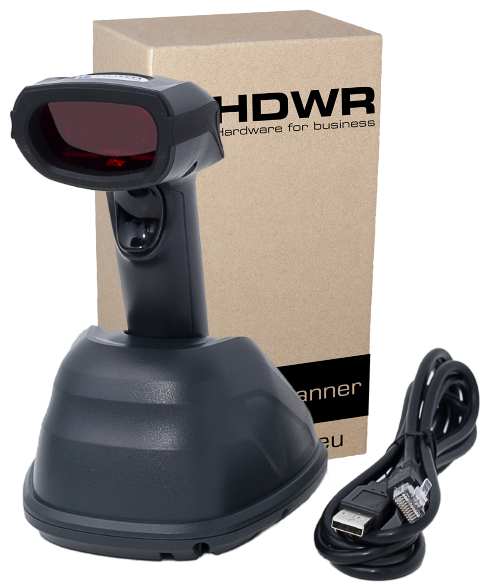 PROFESSIONAL WIRELESS CODE READER WITH A DOCKING STATION HD8900. SET.