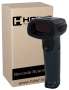 WIRELESS BARCODE READER HD2000. FRONT VIEW.